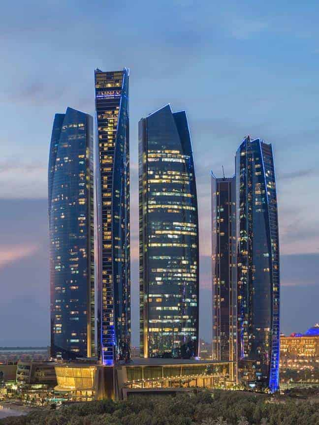 Ethihad Towers in Cityscape