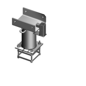 Davit Base - 200 Series - Cast In Cage